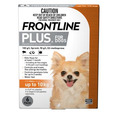 Frontline Plus For Dogs Small Up To 10kg 6 Pack