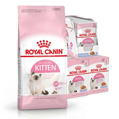 Royal Canin Bundle Kitten Jelly Wet And Dry Cat Food