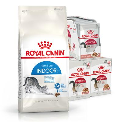 Royal Canin Bundle Indoor Adult Wet And Dry Cat Food