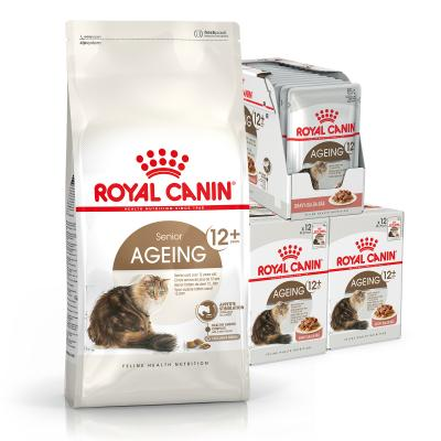 Royal Canin Bundle Ageing 12+ Years Mature/Senior Wet And Dry Cat Food