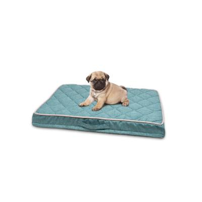 Petlife Odour Resistant Ortho Mattress Teal Small Bed For Dogs 80 x 55cm