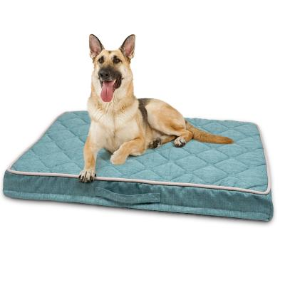 Petlife Odour Resistant Ortho MattressTeal Large  Bed For Dogs 120 x 85cm