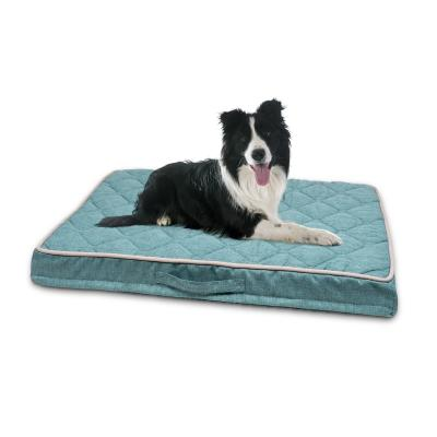 Petlife Odour Resistant Ortho MattressTeal Medium Bed For Dogs 100 x 70cm