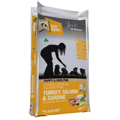 Meals For Mutts MfM Turkey Salmon Sardine Puppy And Whelping Dry Dog Food 20kg