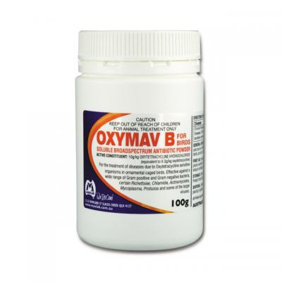 Mavlab Oxymav B Soluble Broad Spectrum Antibiotic Powder for Birds 100gm