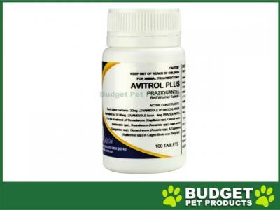 Avitrol Plus Praziquantel Wormer Tablets For Birds x 100