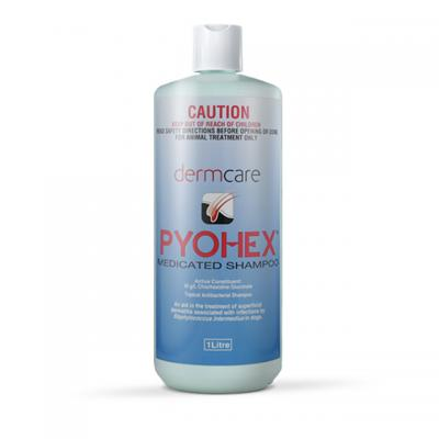 Pyohex Medicated Shampoo For Dogs and Cats 1litre
