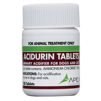 Apex Acidurin For Dogs And Cats 100 Tablets