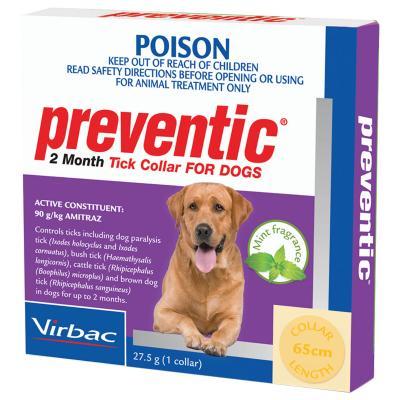Preventic Tick Collar For Dogs X 4