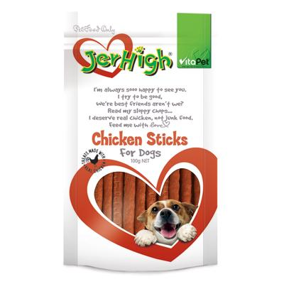 Vitapet Jerhigh Chicken Stick Treats For Dogs 100g