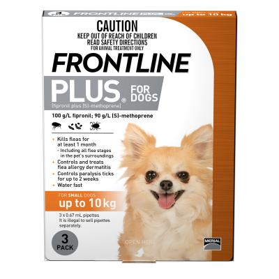 Frontline Plus For Dogs Small Up To 10kg 3 Pack