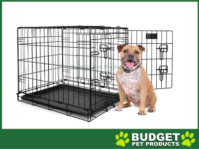 Yours Droolly Dog Crate Double Door 30inch