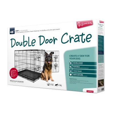 Yours Droolly Dog Crate Double Door 48inch