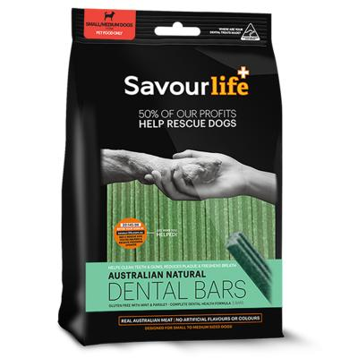 SavourLife Dental Bars With Mint and Parsely Treats For Small And Medium Dogs 8 Bars