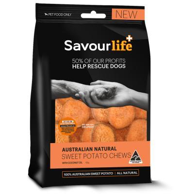 SavourLife Sweet Potato Chew With Coconut Treats For Dogs 100gm