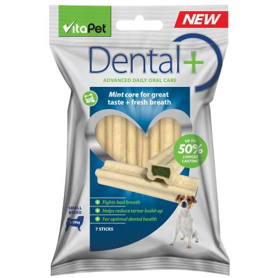Vitapet Dental Plus Fresh Breath Treats For Dogs Small 7 Pack