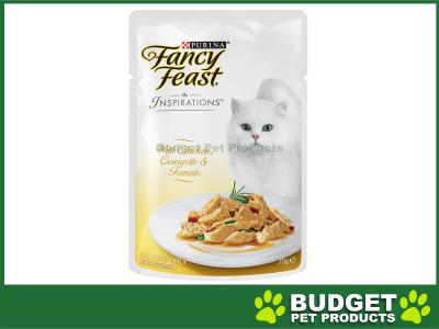 Fancy Feast Inspirations Chicken, Courgette And Tomato Pouches Wet Cat Food 70g x 24