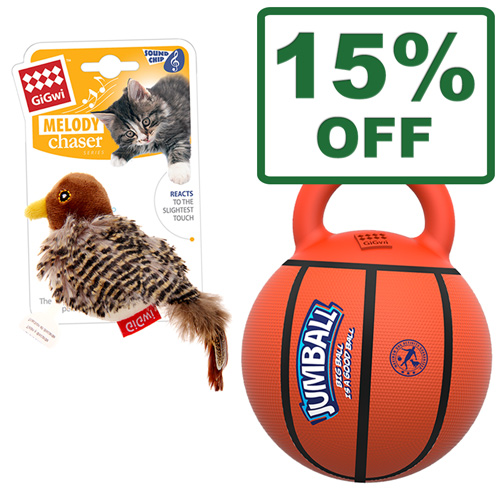 Gigwi Melody Chaser & Jumball Toys For Dogs & Cats