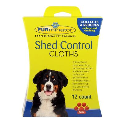 FURminator Shed Control Grooming Pet Wipe Cloths For Dogs (12 Wipes)