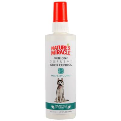 Natures Miracle Skin And Coat Supreme Odour Control Eucalyptus Spearmint Fresh Grooming Spray For Dogs 236ml