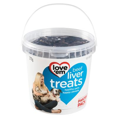 Love em Beef Liver Pantry Pack Treats For Dogs 270gm