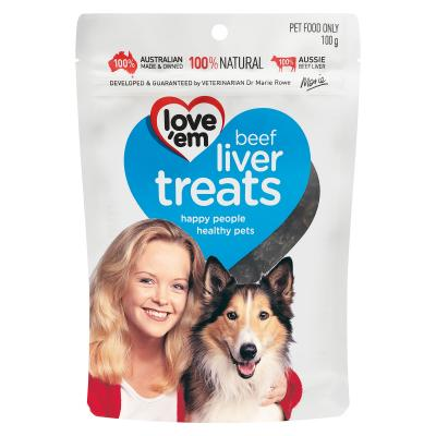 Love em Beef Liver Treats For Dogs 100gm