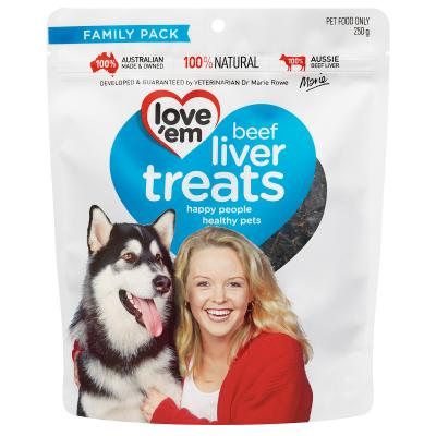 Love em Beef Liver Treats For Dogs 250gm