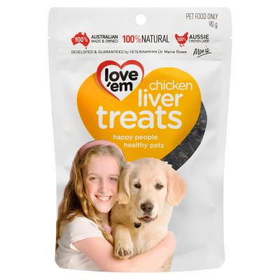 Love em Chicken Liver Treats For Dogs 90gm