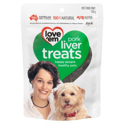 Love em Pork Liver Treats For Dogs 100gm