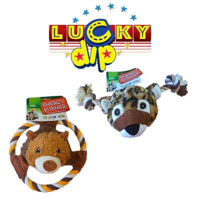 Vitapet Surprise Lion or Leopard Soft Squeak Rope Toy For Dogs