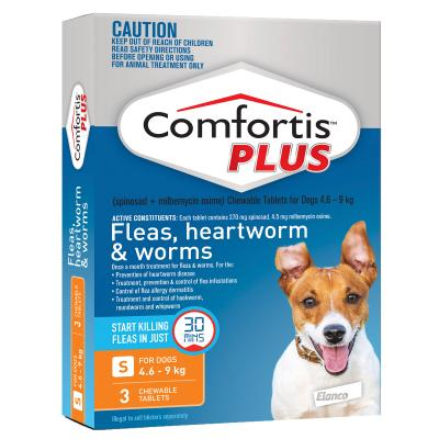 Comfortis Plus For Dogs Orange Small 4.6-9kg 3 Pack