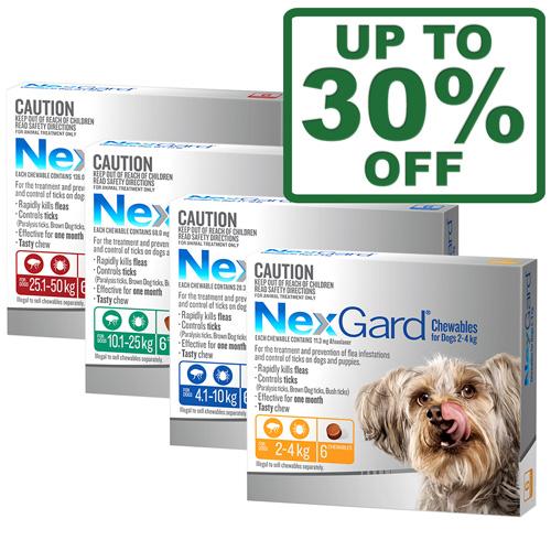 Nexgard 3 & 6 Packs For Dogs