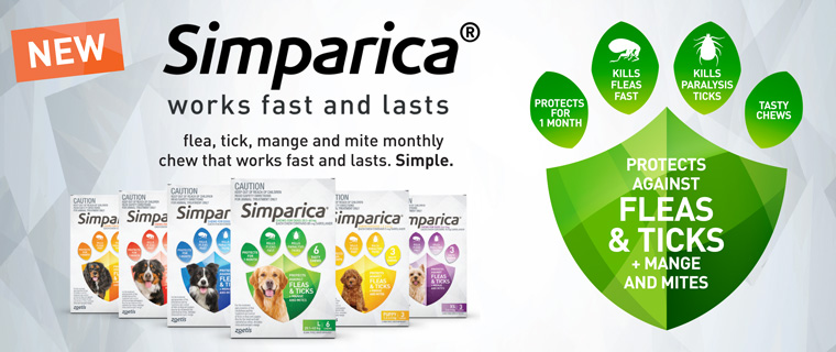 New Product! Simperica - Kills Fleas & Ticks