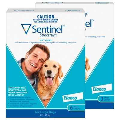 Sentinel Spectrum For Dogs 22-45kg Blue 9 Pack