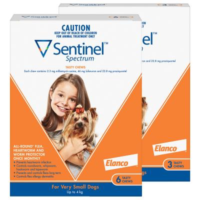 Sentinel Spectrum For Dogs Up To 4kg Brown 9 Pack