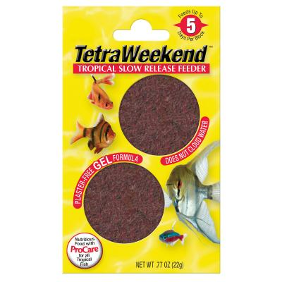 TetraWeekend Tropical Slow-Release 5 Day Feeder Food For Fish