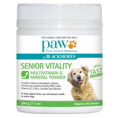 PAW By Blackmores Senior Vitality Multivitamin Mineral Powder For Dogs 200gm