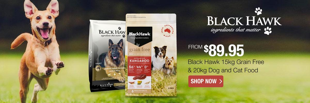Black Hawk 20kg Dog & Cat & 15kg Grain Free