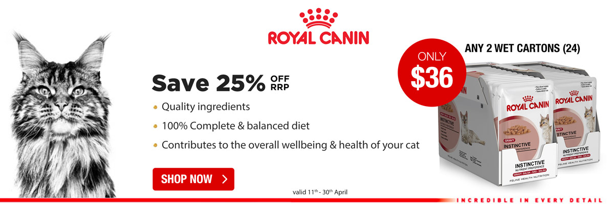 Royal Canin 2 Wet Pouches For $36 Valid 11/04/17 - 30/04/17