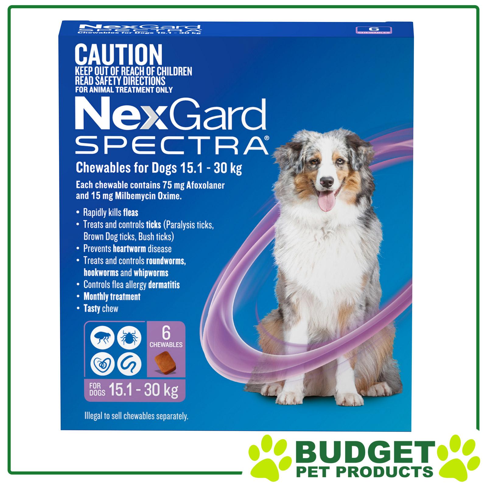 NexGard-Spectra-Flea-Ticks-Heartworm-Intestinal-Worm-For-Dogs-6-Pack