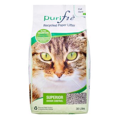 Purifie Paper Pellet Cat Litter 30L