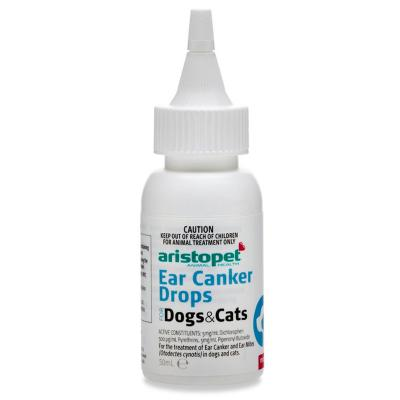 Aristopet Ear Mite Canker Drops For Dogs and Cats 50ml