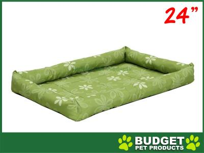 Midwest Paradise Retro Floral Mat Bed Groovy Green For Dogs 24inch