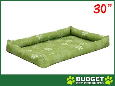 Midwest Paradise Retro Floral Mat Bed Groovy Green For Dogs 30inch