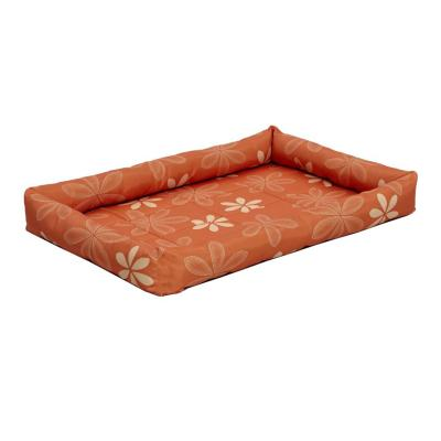 Midwest Paradise Retro Floral Crate Mat Bed Funky Orange For Dogs 30inch
