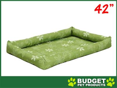 Midwest Paradise Retro Floral Mat Bed Groovy Green For Dogs 42inch