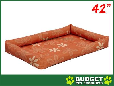 Midwest Paradise Retro Floral Mat Bed Funky Orange For Dogs 42inch