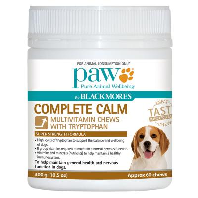 Paw By Blackmores Complete Calm Multivitamin And Tryptophan Chews For Dogs 300gm