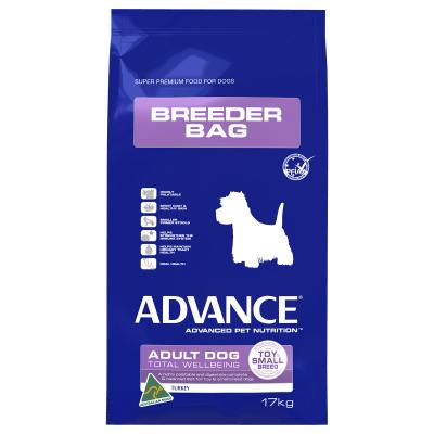 Advance Small Breed Turkey And Rice Adult Dry Dog Food 17kg