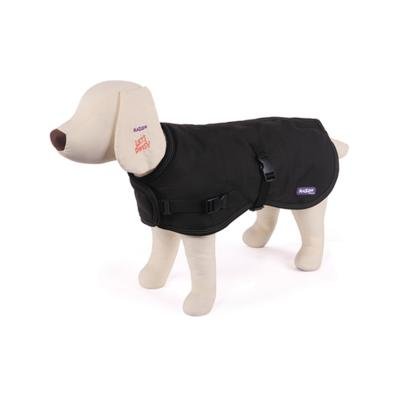 Kazoo Reflective Nylon Dog Coat Black Medium 46.5cm